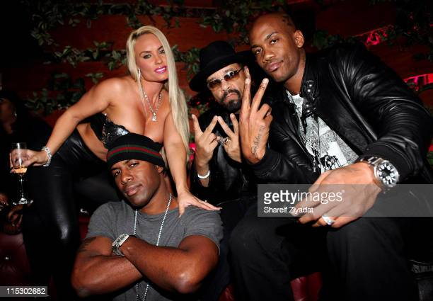 Coco DJ Whoo Kid IceT and Stephon Marbury attend Dj Whoo Kid's birthday celebration at Pink Elephant on October 18 2009 in New York City