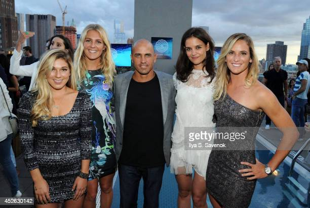 Coco Ho Stephanie Gilmore Kelly Slater Katie Holmes and Courtney Conlogue attend the ASP The World Surf League cocktail party at The Jimmy at the...