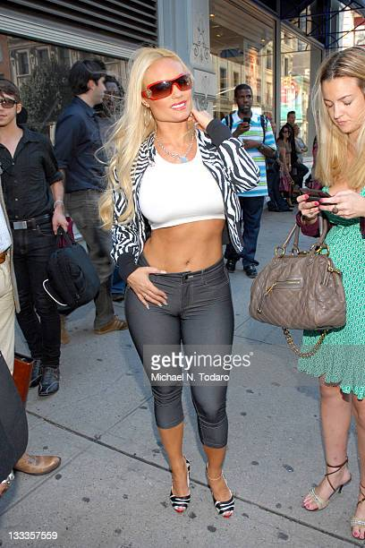 Coco is seen on the Streets of Manhattan on September 14 2009 in New York City
