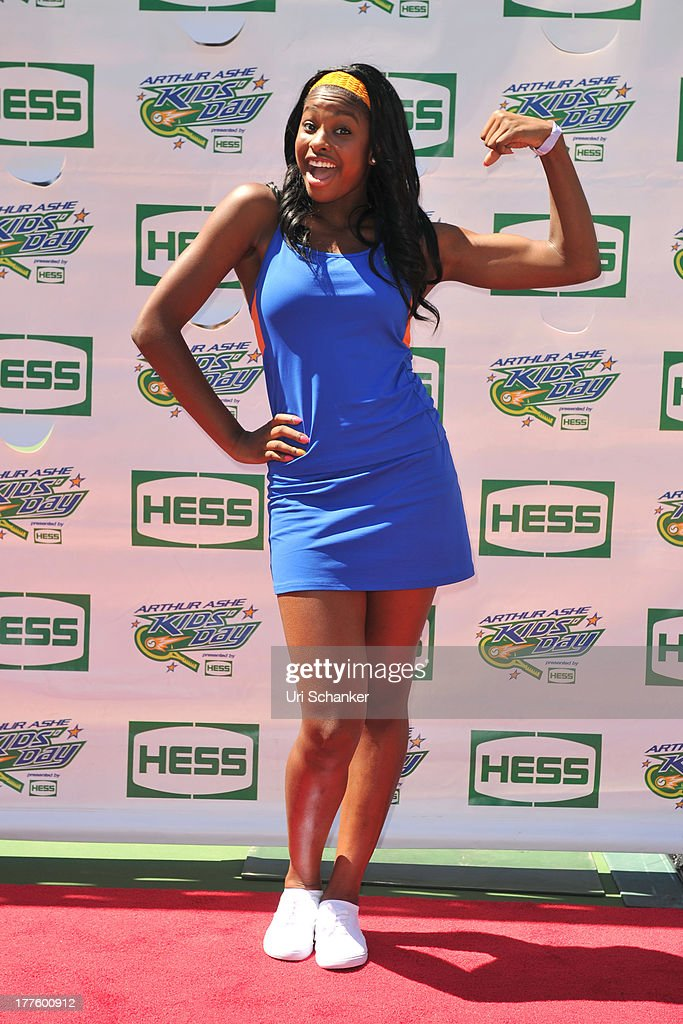 Coco Jones attends the 2013 Arthur Ashe Kids Day at USTA Billie Jean King National Tennis Center on August 24, 2013 in the Queens borough of New York City.
