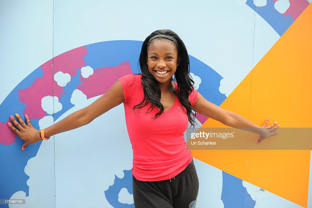 Coco Jones attends the 2013 Arthur Ashe Kids Day Rehearsals at USTA Billie Jean King National Tennis Center on August 23, 2013 in the Queens borough of New York City.