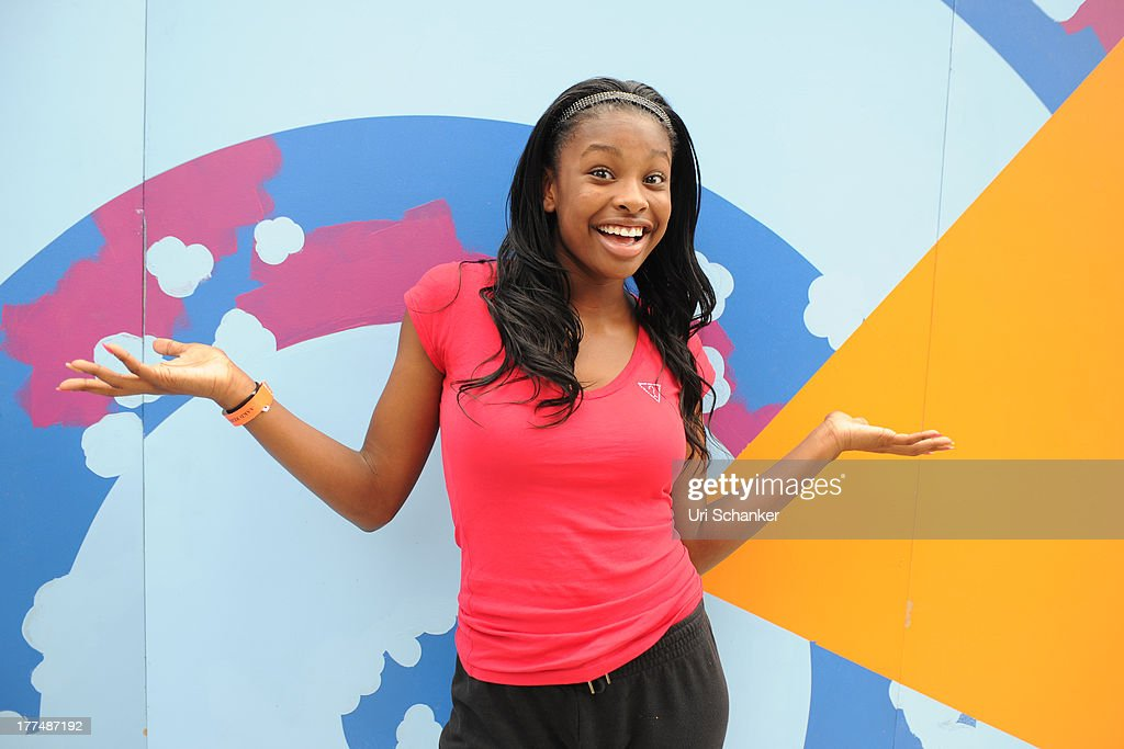 <a gi-track='captionPersonalityLinkClicked' href=/galleries/search?phrase=Coco+Jones&family=editorial&specificpeople=4684153 ng-click='$event.stopPropagation()'>Coco Jones</a> attends the 2013 Arthur Ashe Kids Day Rehearsals at USTA Billie Jean King National Tennis Center on August 23, 2013 in the Queens borough of New York City.