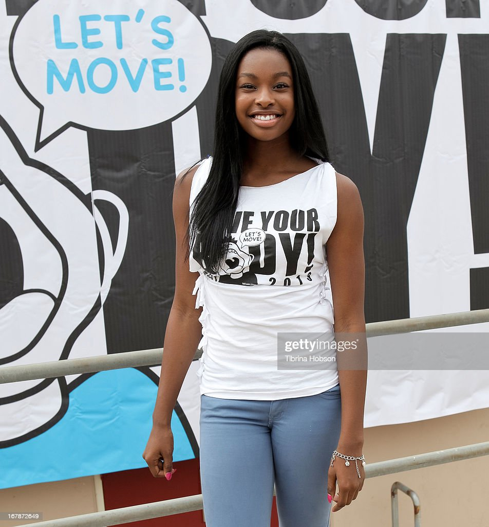 Coco Jones attends the WAT-AAH! Foundation's 3rd annual move your body 2013 event on May 1, 2013 in Los Angeles, California.