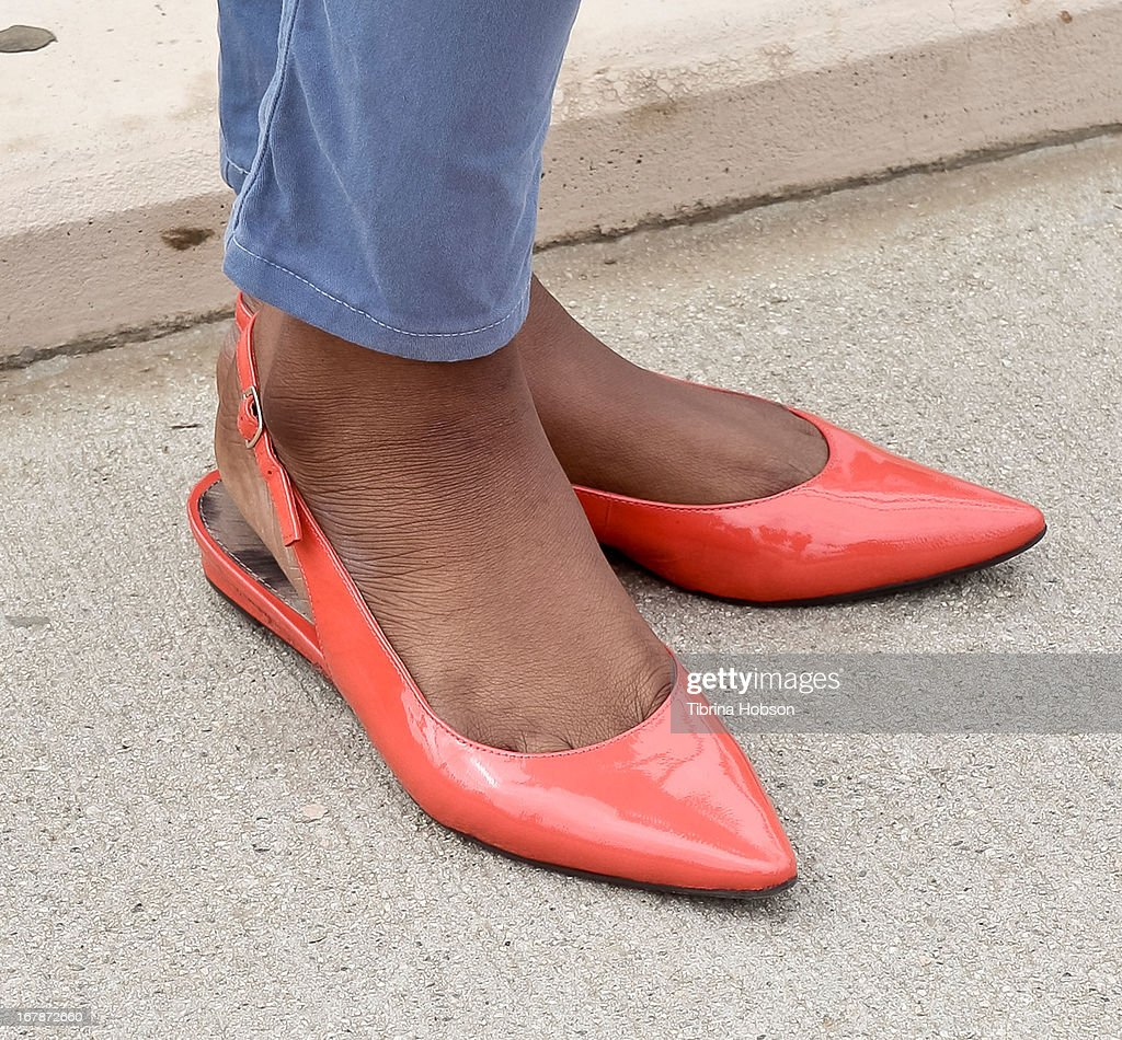 Coco Jones (shoe detail) attends the WAT-AAH! Foundation's 3rd annual move your body 2013 event on May 1, 2013 in Los Angeles, California.