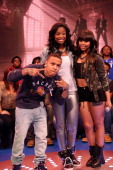 Coco Jones visits BET's '106 Park' with hosts Bow Wow and Kimberly Paigion Walker at BET Studios on March 13 2013 in New York City