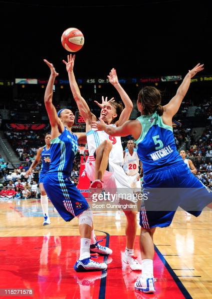Coco Miller of the Atlanta Dream drives to the basket against the New York Liberty at Philips Arena on June 5 2011 in Atlanta Georgia NOTE TO USER...