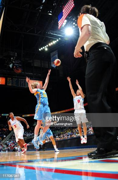 Coco Miller of the Atlanta Dream puts up a shot against the Chicago Sky at Philips Arena on June 21 2011 in Atlanta Georgia NOTE TO USER User...