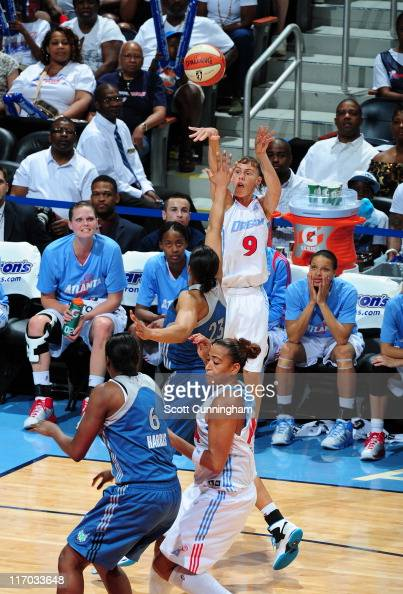 Coco Miller of the Atlanta Dream puts up a shot against the Minnesota Lynx at Philips Arena on June 19 2011 in Atlanta Georgia NOTE TO USER User...