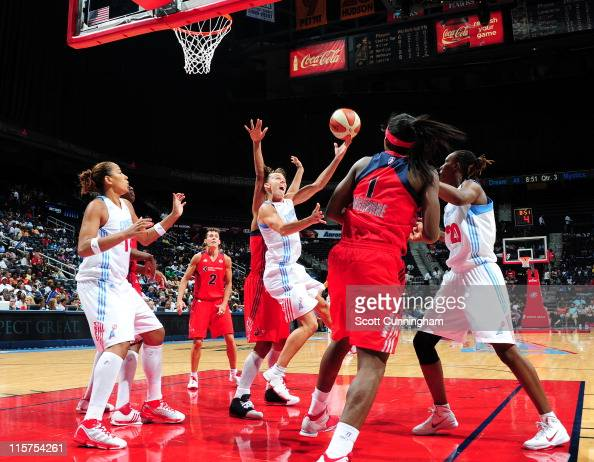 Coco Miller of the Atlanta Dream puts up a shot against the Washington Mystics at Philips Arena on June 9 2011 in Atlanta Georgia NOTE TO USER User...