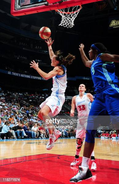 Coco Miller of the Atlanta Dream puts up a shot against the New York Liberty at Philips Arena on June 5 2011 in Atlanta Georgia NOTE TO USER User...