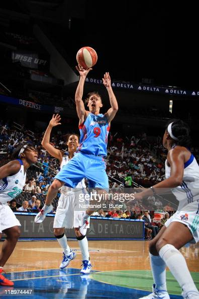 Coco Miller of the Atlanta Dream shoots during a game against the New York Liberty on July 13 2011 at the Prudential Center in Newark New Jersey NOTE...