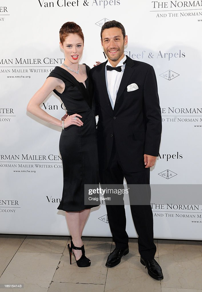 <a gi-track='captionPersonalityLinkClicked' href=/galleries/search?phrase=Coco+Rocha&family=editorial&specificpeople=4172514 ng-click='$event.stopPropagation()'>Coco Rocha</a>, and Alain Bernard attend the Norman Mailer Center's Fifth Annual Benefit Gala sponsored by Van Cleef & Arpels on October 17, 2013 in New York City.