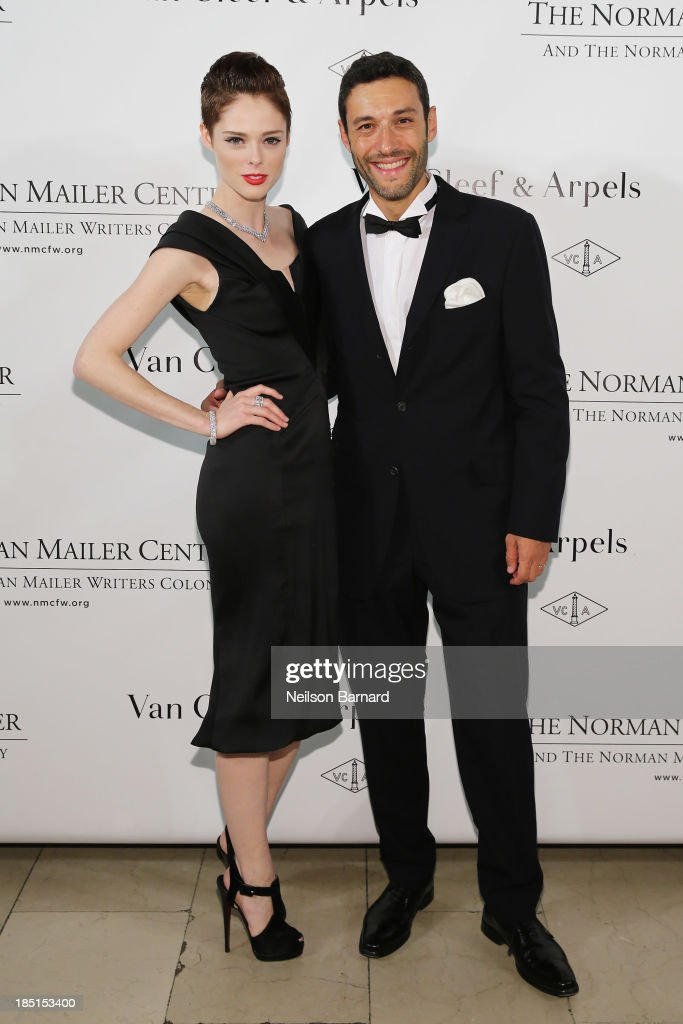 <a gi-track='captionPersonalityLinkClicked' href=/galleries/search?phrase=Coco+Rocha&family=editorial&specificpeople=4172514 ng-click='$event.stopPropagation()'>Coco Rocha</a> (L) and Alain Bernard, Van Cleef & Arpels President and CEO of the Americas, attend The Fifth Annual Norman Mailer Center Benefit Gala presented by Van Cleef & Arpels at The New York Public Library on October 17, 2013 in New York City.