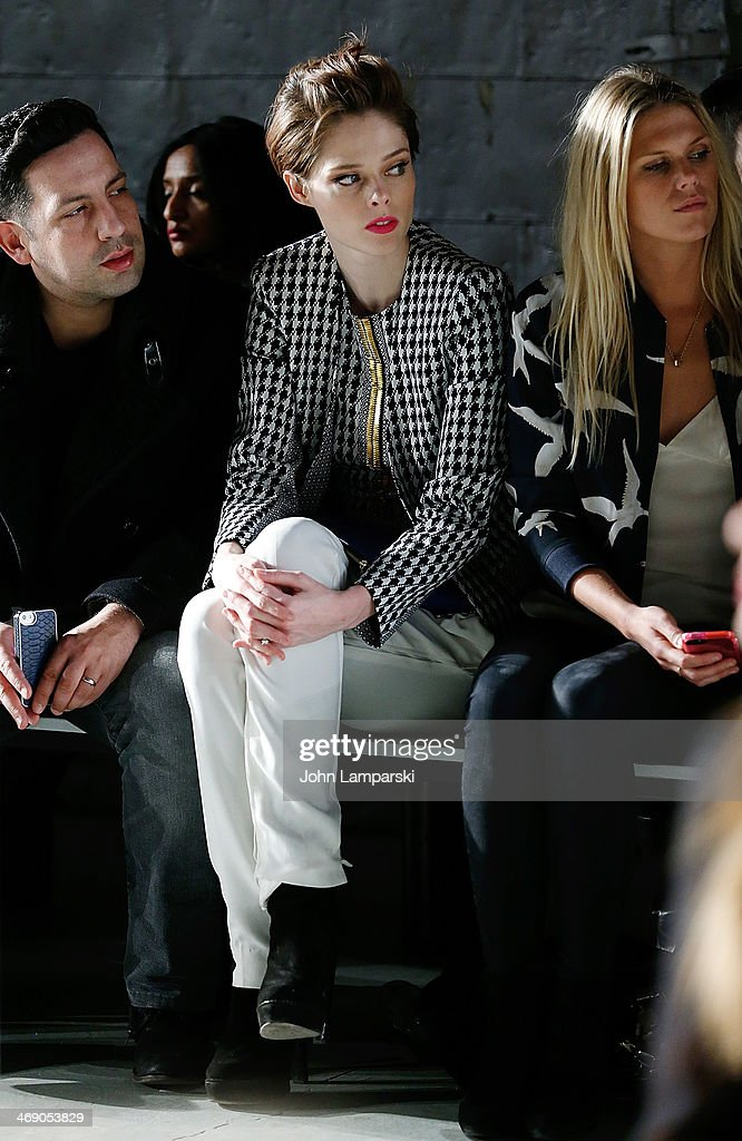 <a gi-track='captionPersonalityLinkClicked' href=/galleries/search?phrase=Coco+Rocha&family=editorial&specificpeople=4172514 ng-click='$event.stopPropagation()'>Coco Rocha</a> and <a gi-track='captionPersonalityLinkClicked' href=/galleries/search?phrase=Alexandra+Richards&family=editorial&specificpeople=213455 ng-click='$event.stopPropagation()'>Alexandra Richards</a> attend the Sass & Bide Show during Mercedes-Benz Fashion Week Fall 2014 at Classic Car Club on February 12, 2014 in New York City.