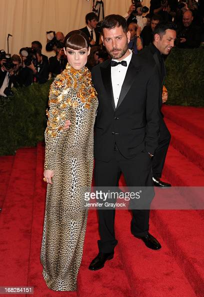 Coco Rocha and Fausto Puglisi attends the Costume Institute Gala for the 'PUNK Chaos to Couture' exhibition at the Metropolitan Museum of Art on May...