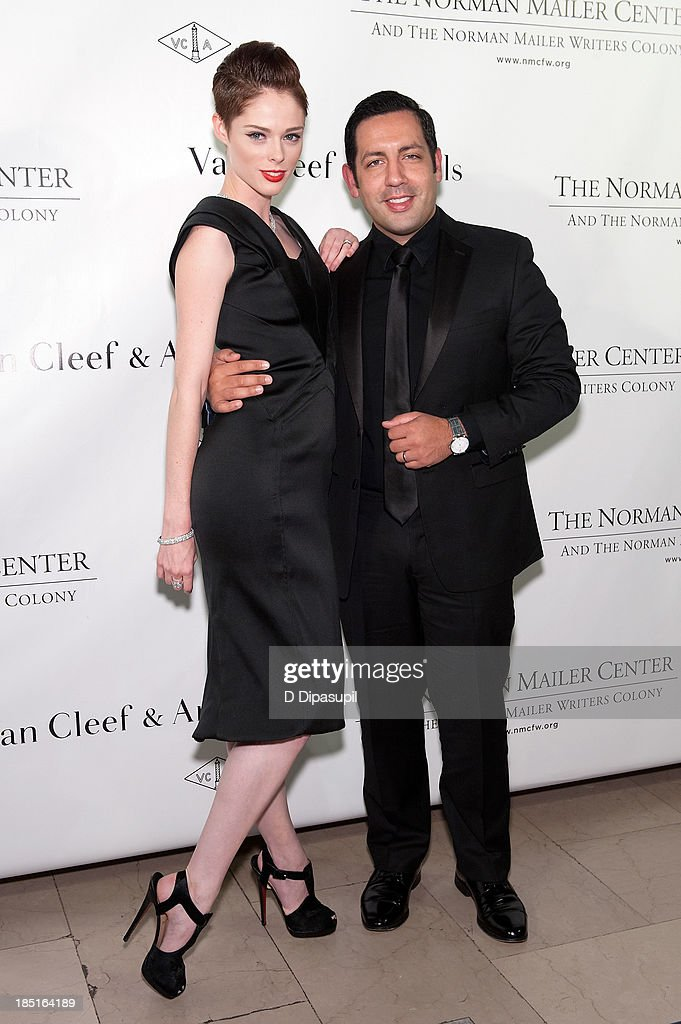 <a gi-track='captionPersonalityLinkClicked' href=/galleries/search?phrase=Coco+Rocha&family=editorial&specificpeople=4172514 ng-click='$event.stopPropagation()'>Coco Rocha</a> (L) and husband James Conran attend the 2013 Norman Mailer Center gala at the New York Public Library on October 17, 2013 in New York City.