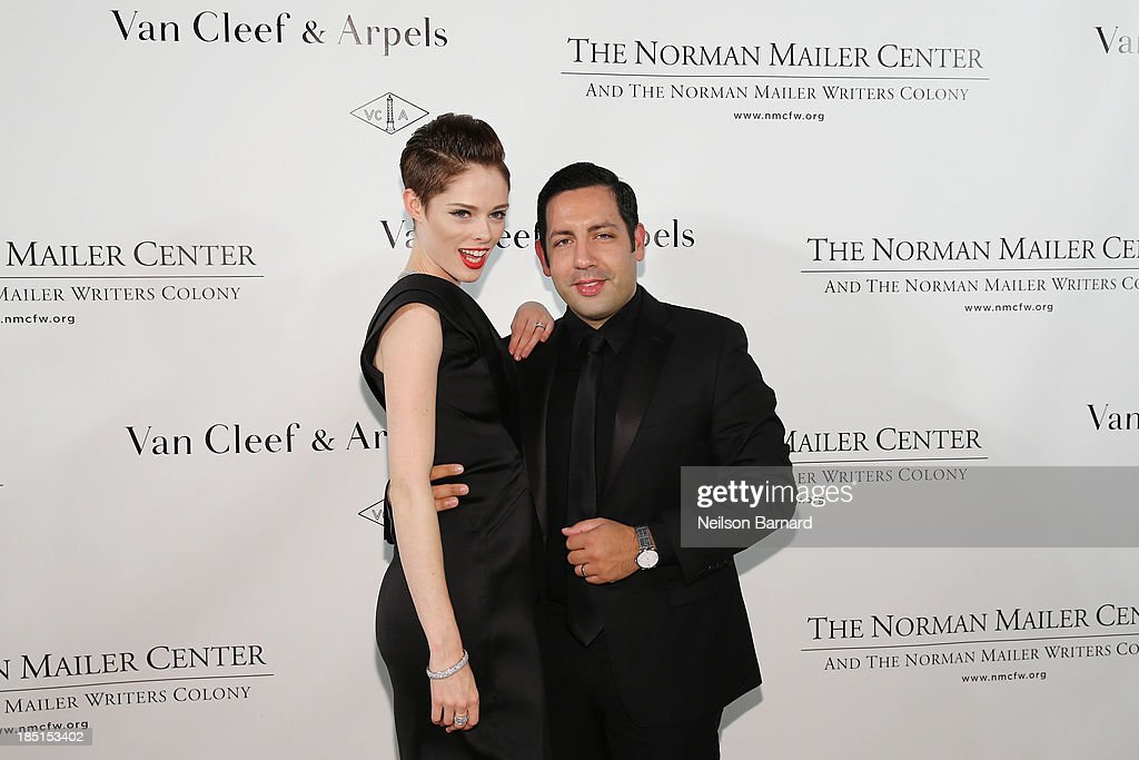 <a gi-track='captionPersonalityLinkClicked' href=/galleries/search?phrase=Coco+Rocha&family=editorial&specificpeople=4172514 ng-click='$event.stopPropagation()'>Coco Rocha</a> (L) and James Conran attend The Fifth Annual Norman Mailer Center Benefit Gala presented by Van Cleef & Arpels at The New York Public Library on October 17, 2013 in New York City.