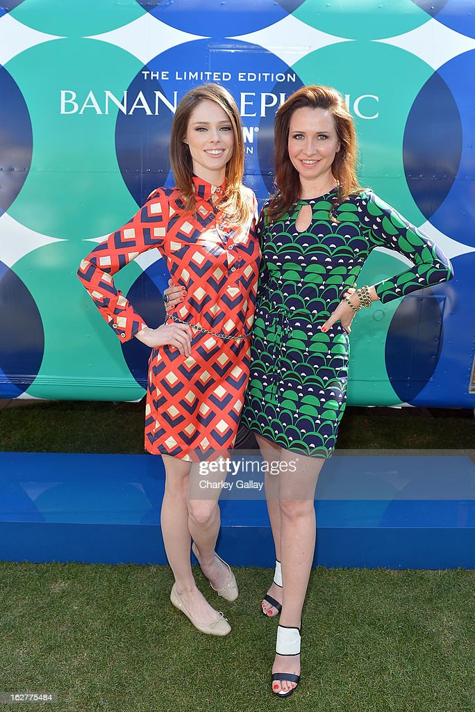 <a gi-track='captionPersonalityLinkClicked' href=/galleries/search?phrase=Coco+Rocha&family=editorial&specificpeople=4172514 ng-click='$event.stopPropagation()'>Coco Rocha</a> and Janie Bryant at the Banana Republic Mod Pod on February 26, 2013 in Los Angeles, California.
