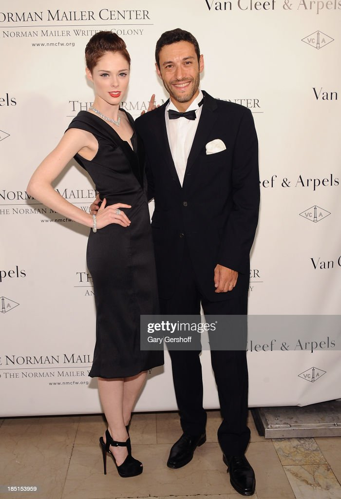 <a gi-track='captionPersonalityLinkClicked' href=/galleries/search?phrase=Coco+Rocha&family=editorial&specificpeople=4172514 ng-click='$event.stopPropagation()'>Coco Rocha</a> (L) and President & CEO of the Americas for Van Cleef & Arpels, Alaine Bernard attend the 2013 Norman Mailer Center Gala at New York Public Library on October 17, 2013 in New York City.