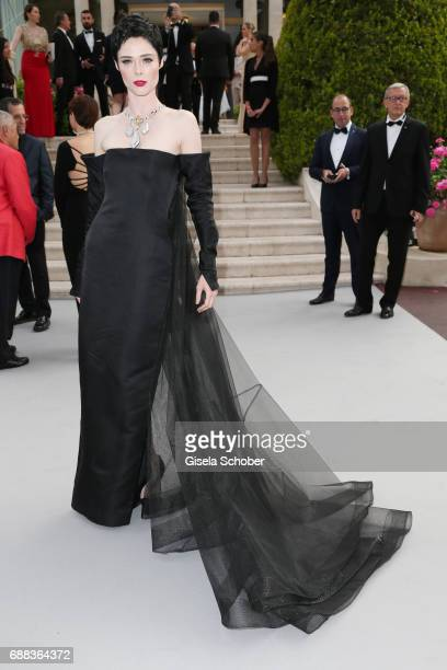 Coco Rocha arrives at the amfAR Gala Cannes 2017 at Hotel du CapEdenRoc on May 25 2017 in Cap d'Antibes France