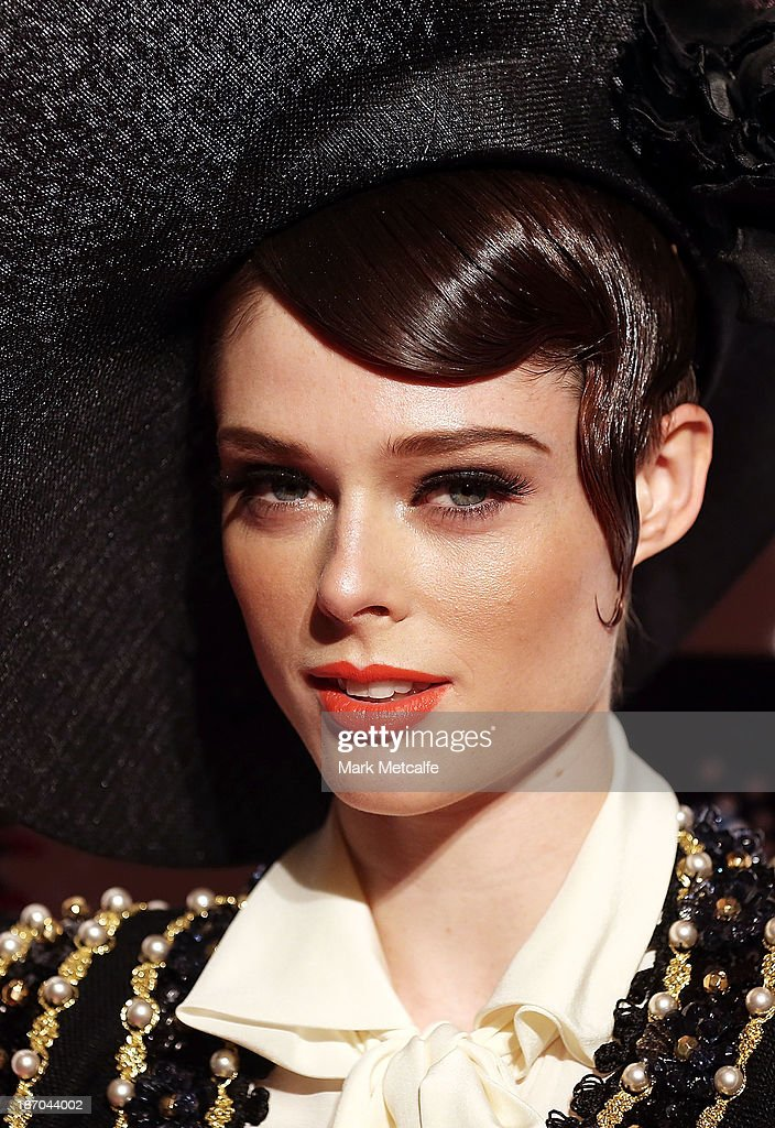Coco Rocha arrives at the VRC Oaks Club Luncheon at the Crown Palladium on November 6, 2013 in Melbourne, Australia.