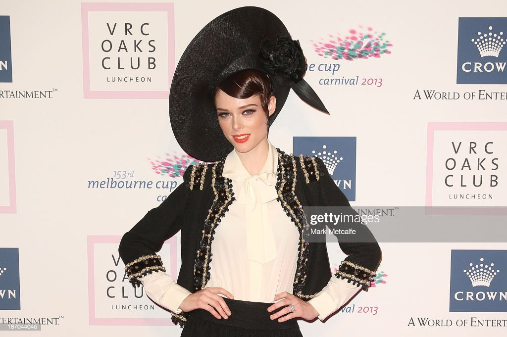 <a gi-track='captionPersonalityLinkClicked' href=/galleries/search?phrase=Coco+Rocha&family=editorial&specificpeople=4172514 ng-click='$event.stopPropagation()'>Coco Rocha</a> arrives at the VRC Oaks Club Luncheon at the Crown Palladium on November 6, 2013 in Melbourne, Australia.