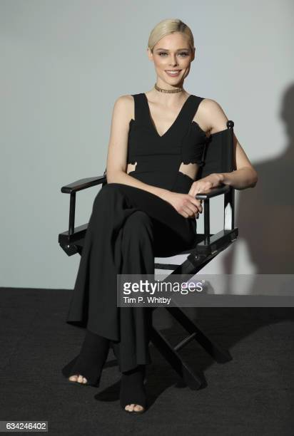 Coco Rocha as she joins BUILD for a live interview at their London studio on February 8 2017 in London United Kingdom