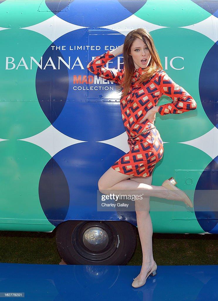 Coco Rocha at the Banana Republic Mod Pod on February 26, 2013 in Los Angeles, California.