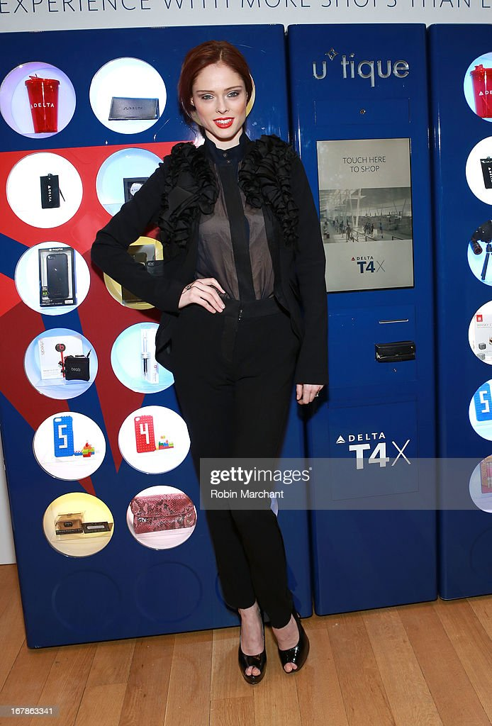 Coco Rocha attends as Delta Air Lines celebrate the opening night of T4X, a pop up experience showcasing distinctive features of the airline's newly transformed international hub at JFK's Terminal 4 on May 1, 2013 in New York City.