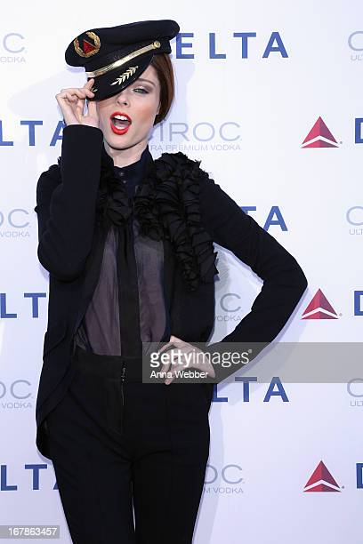 Coco Rocha attends as Delta Air Lines celebrate the opening night of T4X a pop up experience showcasing distinctive features of the airline's newly...