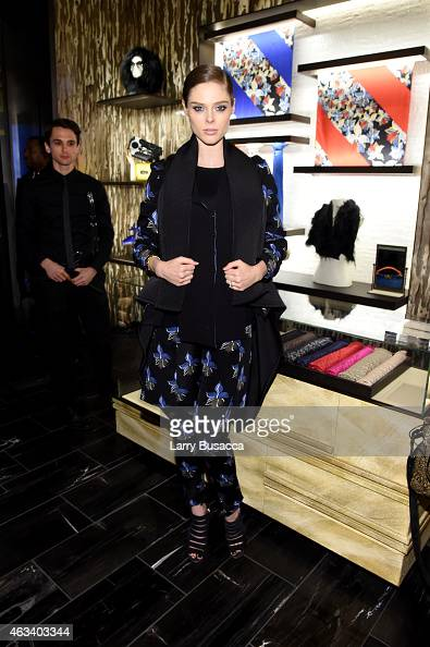Coco Rocha attends FENDI celebrates the opening of the New York flagship store on February 13 2015 in New York City