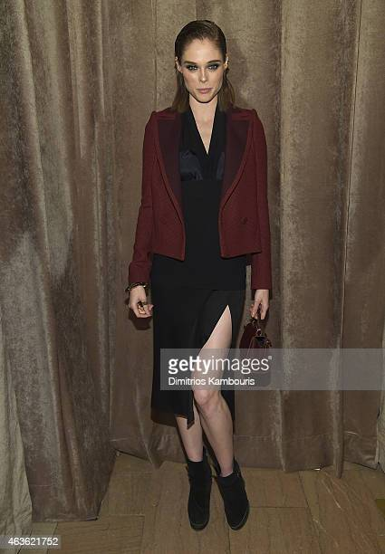 Coco Rocha attends Front Row Backstage MercedesBenz Fashion Week Fall 2015 at Vanderbilt Hall at Grand Central Terminal on February 16 2015 in New...
