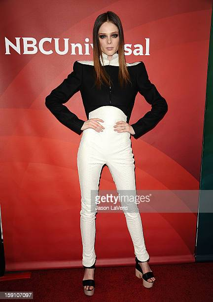 Coco Rocha attends the 2013 NBC TCA Winter Press Tour at The Langham Huntington Hotel and Spa on January 7 2013 in Pasadena California