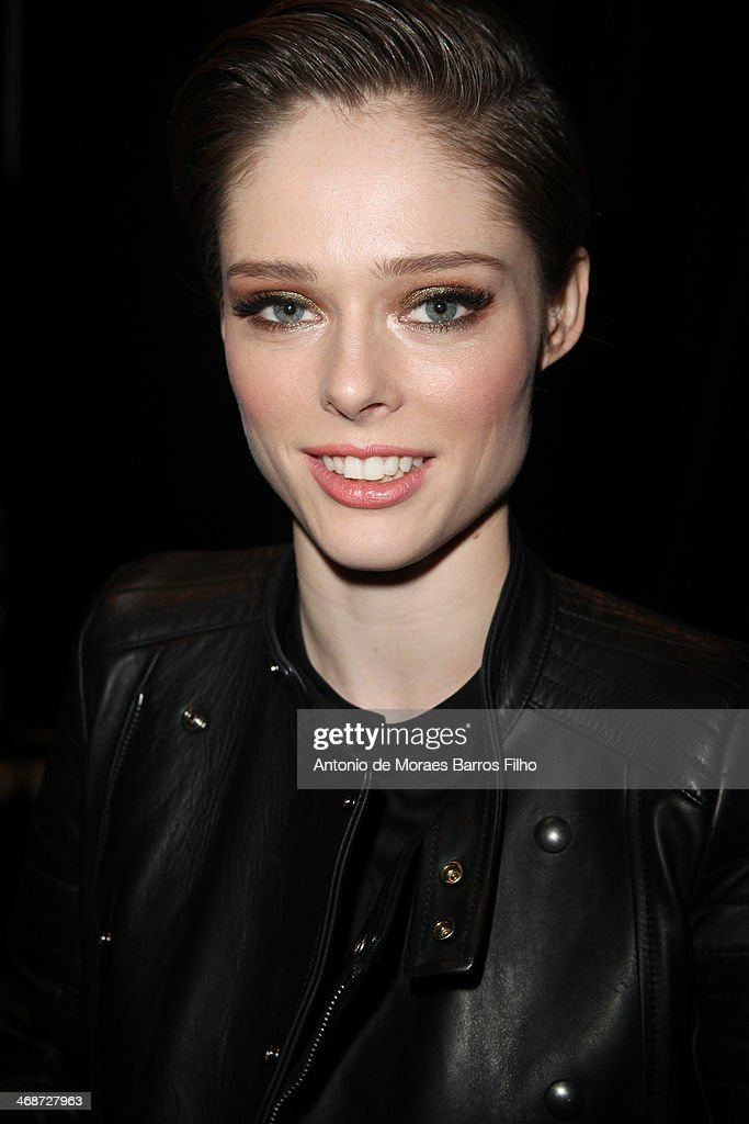 <a gi-track='captionPersonalityLinkClicked' href=/galleries/search?phrase=Coco+Rocha&family=editorial&specificpeople=4172514 ng-click='$event.stopPropagation()'>Coco Rocha</a> attends the Diesel Black And Gold fall 2014 fashion show on February 11, 2014 in New York City.