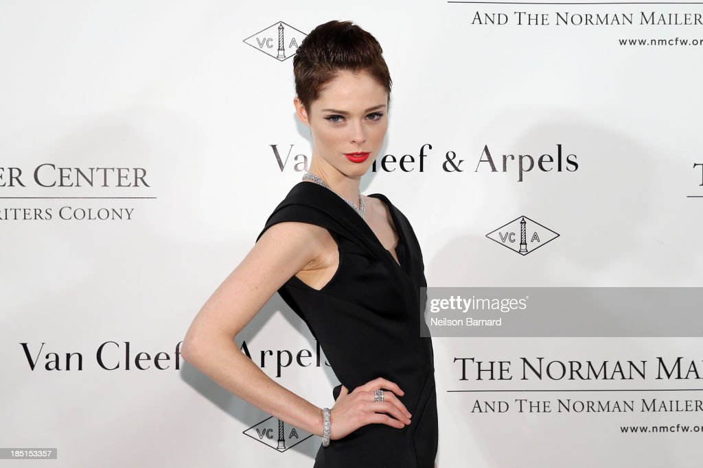 <a gi-track='captionPersonalityLinkClicked' href=/galleries/search?phrase=Coco+Rocha&family=editorial&specificpeople=4172514 ng-click='$event.stopPropagation()'>Coco Rocha</a> attends The Fifth Annual Norman Mailer Center Benefit Gala presented by Van Cleef & Arpels at The New York Public Library on October 17, 2013 in New York City.