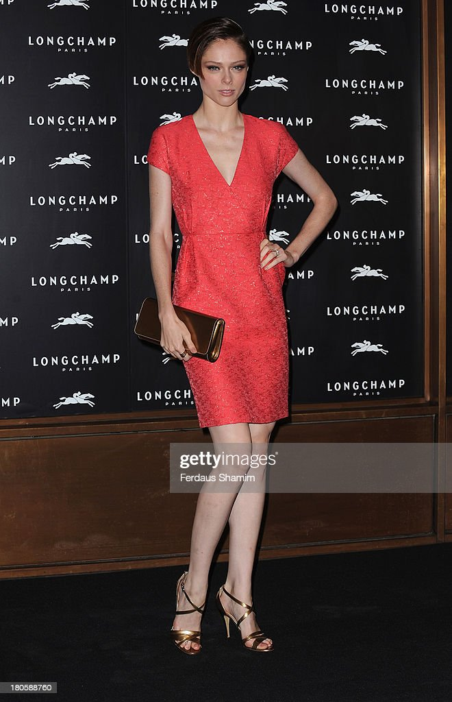 Coco Rocha attends the grand opening party of Longchamp Regent Street at Longchamp on September 14, 2013 in London, England.