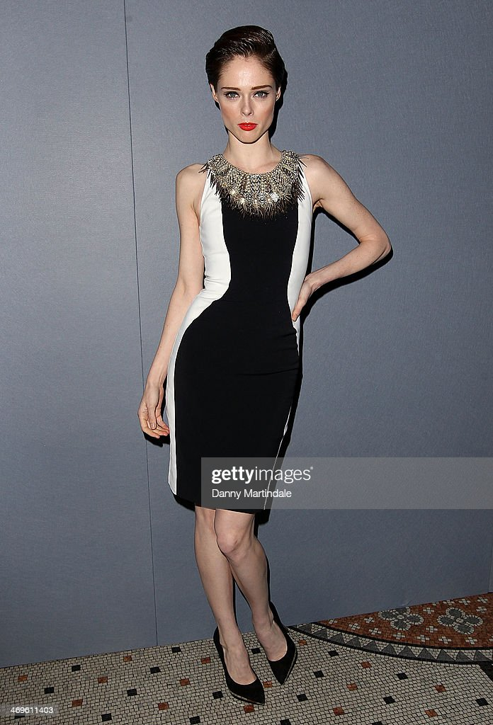 Coco Rocha attends the Julien Macdonald show at London Fashion Week AW14 at on February 15, 2014 in London, England.