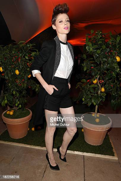 Coco Rocha attends The Pucci Dinner Party At Monsieur Bleu In Paris on September 28 2013 in Paris France