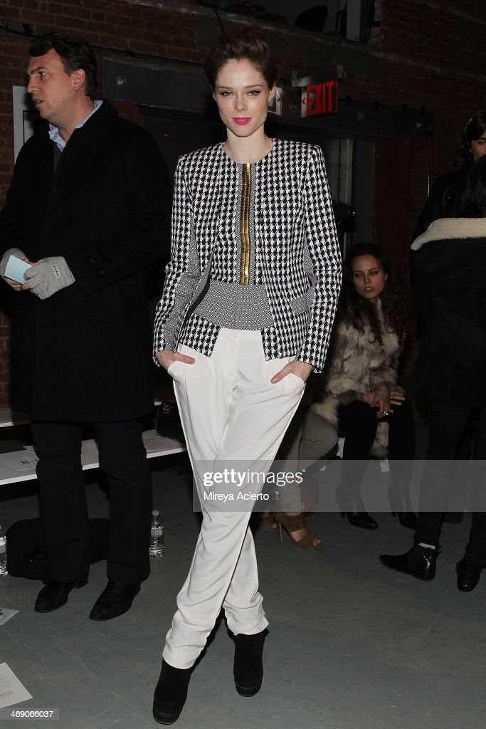 <a gi-track='captionPersonalityLinkClicked' href=/galleries/search?phrase=Coco+Rocha&family=editorial&specificpeople=4172514 ng-click='$event.stopPropagation()'>Coco Rocha</a> attends the Sass & Bide fashion show during Mercedes-Benz Fashion Week Fall 2014 at The Waterfront on February 12, 2014 in New York City.