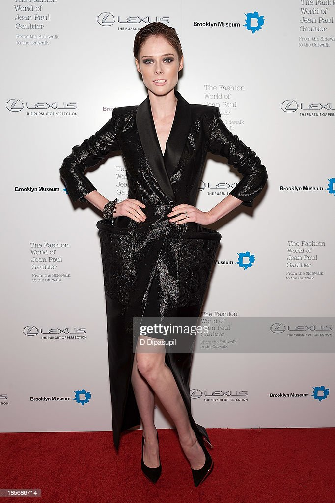 <a gi-track='captionPersonalityLinkClicked' href=/galleries/search?phrase=Coco+Rocha&family=editorial&specificpeople=4172514 ng-click='$event.stopPropagation()'>Coco Rocha</a> attends the VIP reception and viewing for The Fashion World of Jean Paul Gaultier: From the Sidewalk to the Catwalk at the Brooklyn Museum on October 23, 2013 in the Brooklyn borough of New York City.