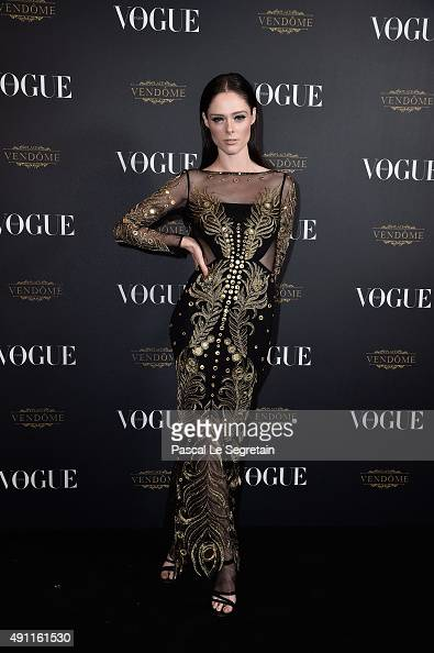 Coco Rocha attends the Vogue 95th Anniversary Party on October 3 2015 in Paris France
