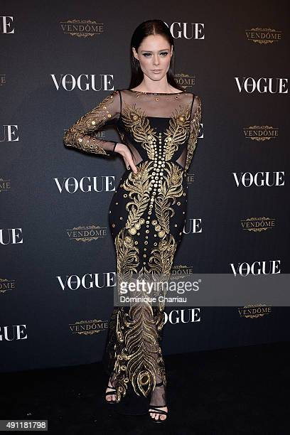 Coco Rocha attends the Vogue 95th Anniversary Party Photocall as part of the Paris Fashion Week Womenswear Spring/Summer 2016 on October 3 2015 in...