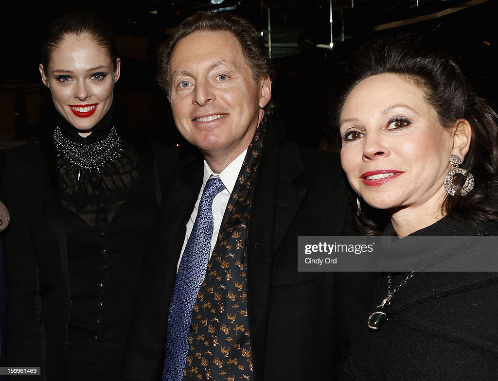Coco Rocha, CEO of Hudson Media James Cohen and wife attend DuJour Magazine Gala With Coco Rocha & Nigel Barker Presented by Invicta at Scott Sartiano and Richie Akiva's The Darbyon January 23, 2013 in New York City.