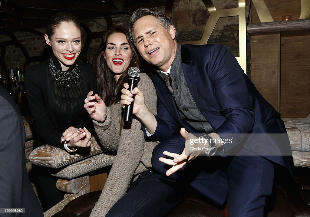 Coco Rocha, Hilary Rhoda, and Jason Binn attend DuJour Magazine Gala with Coco Rocha and Nigel Barker presented by TW Steel at Scott Sartiano and Richie Akiva's The Darby on January 23, 2013 in New York City.