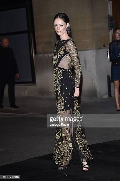 Coco Rocha is seen arriving at Vogue 95th Anniversary Party during the Paris Fashion Week Ready To Wear S/S 2016 Day Five on October 3 2015 in Paris...