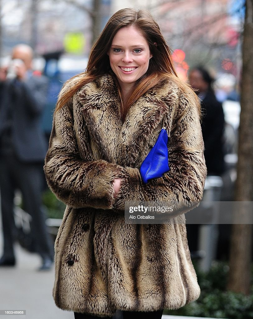 Coco Rocha is seen in Chelsea on January 29, 2013 in New York City.