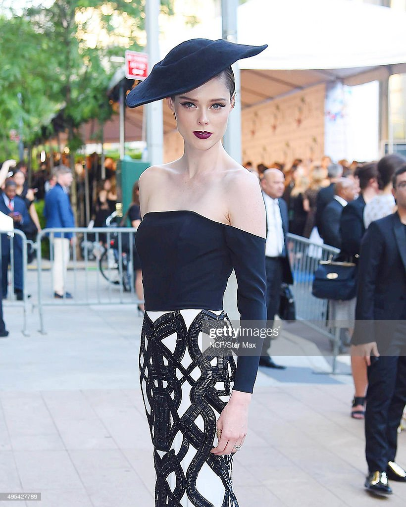 Coco Rocha is seen on June 2, 2014 arriving at The 2014 CFDA Fashion Awards in New York City.