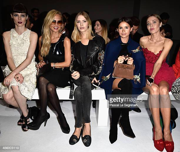 Coco Rocha Rachel Zoe Elena Perminova Miroslava Duma and Ulyana Sergeenko attend the Giambattista Valli show as part of the Paris Fashion Week...