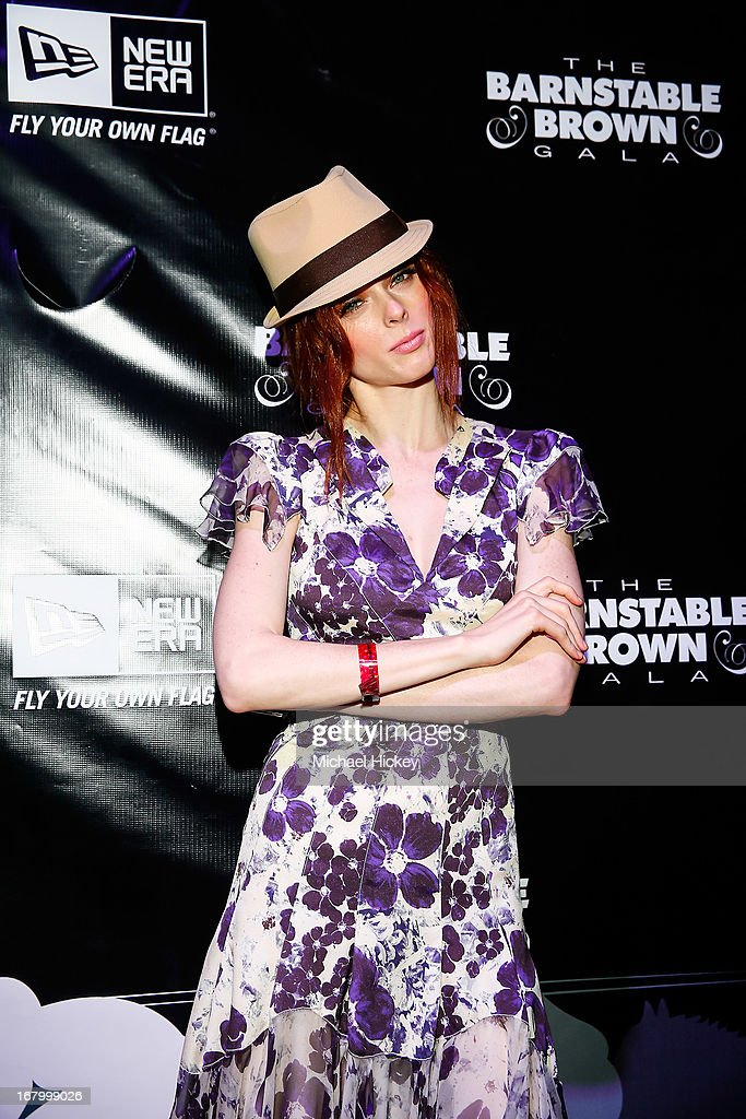 Coco Rocha seen at the New Era Cap tent at The Barnstable Brown Gala on May 3, 2013 in Louisville, Kentucky.