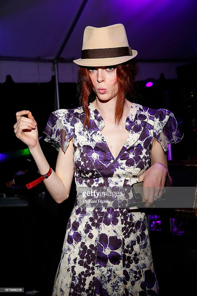 <a gi-track='captionPersonalityLinkClicked' href=/galleries/search?phrase=Coco+Rocha&family=editorial&specificpeople=4172514 ng-click='$event.stopPropagation()'>Coco Rocha</a> seen at the New Era Cap tent at The Barnstable Brown Gala on May 3, 2013 in Louisville, Kentucky.